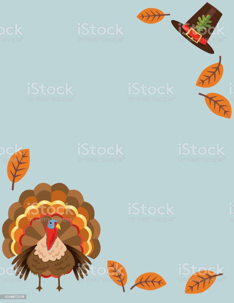 Flat Design Cute Autumn Background vector art illustration