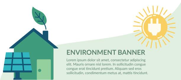 Flat Design Environment Icons vector art illustration