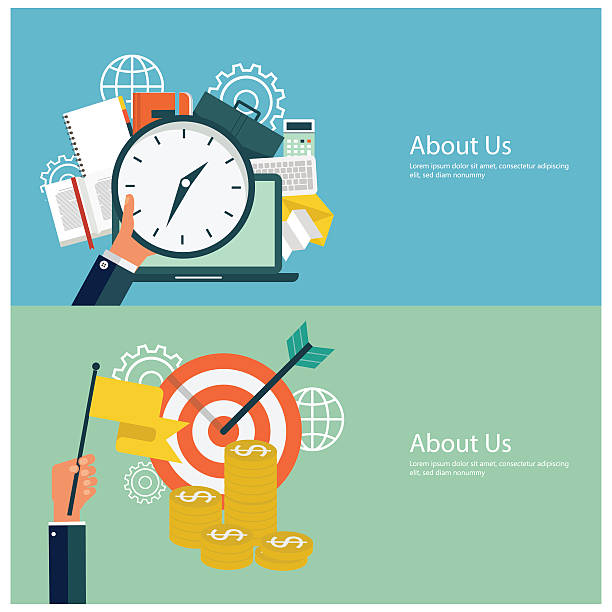 Flat design financial concepts vector art illustration