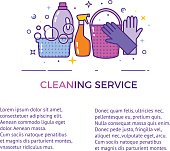 Flat design for cleaning service isolated on white