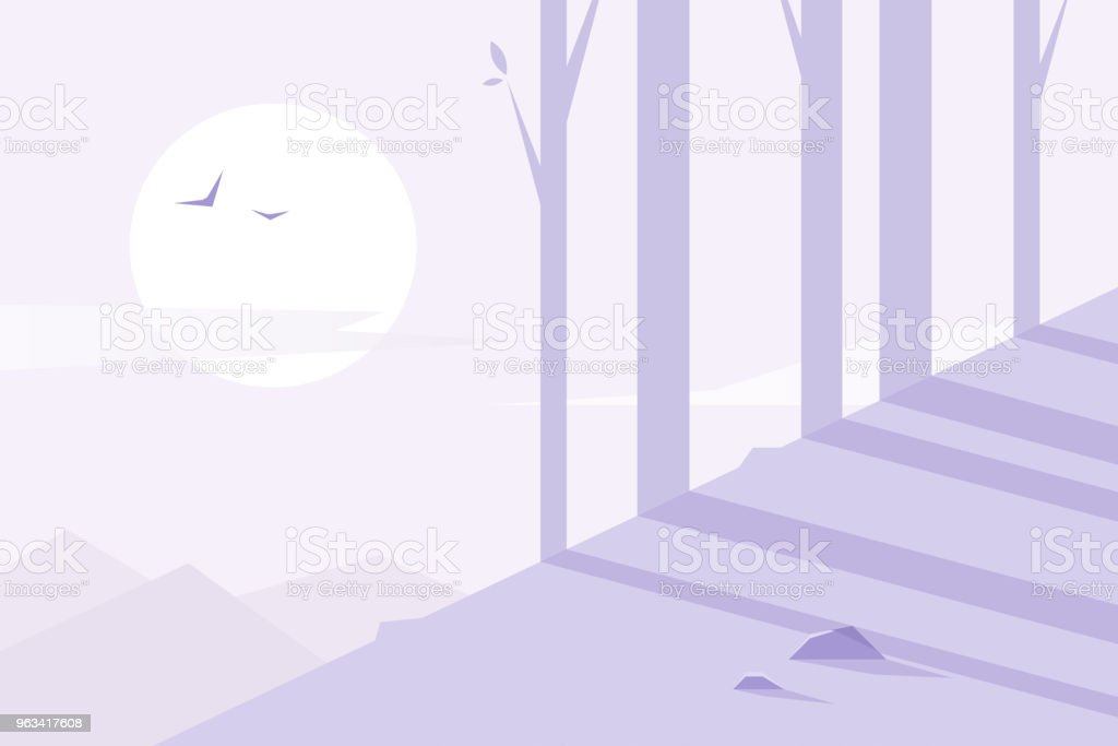 Design plat. Forest - clipart vectoriel de Abstrait libre de droits