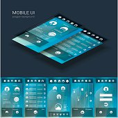 Flat design graphic user interface concept with text space suitable