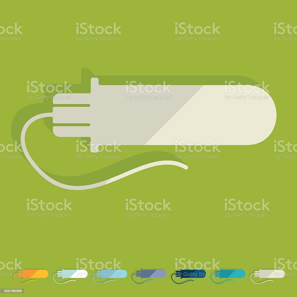 Flat design: gynecological tampon vector art illustration