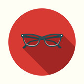 istock Flat Design Healthcare Eyecare Icon with Side Shadow 869095092