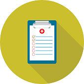 Medical exam document clipboard icon