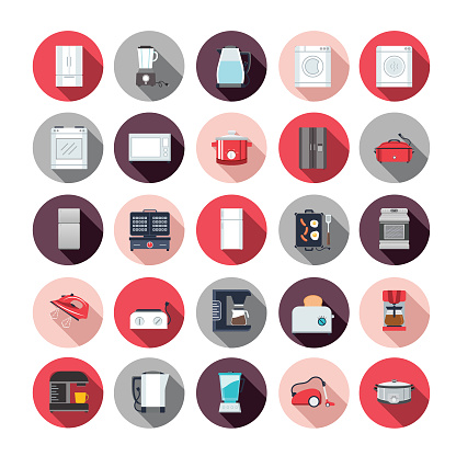 Flat Design Home Appliance Icon