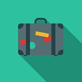 istock Flat Design Hotel Icon: Suitcase 863237666