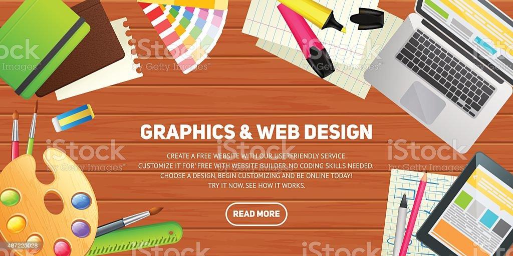 フラットなデザインコンセプトの教育イラストレーション ベクターアートイラスト