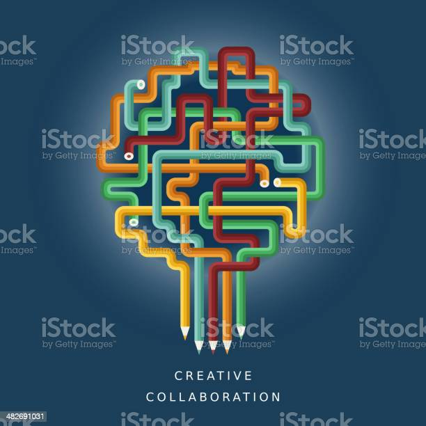 Flat design illustration concept of creative collaboration vector id482691031?b=1&k=6&m=482691031&s=612x612&h=5agnnzv2qtjkz33oejug1jfqi1tamfpdaaeodvvek5u=