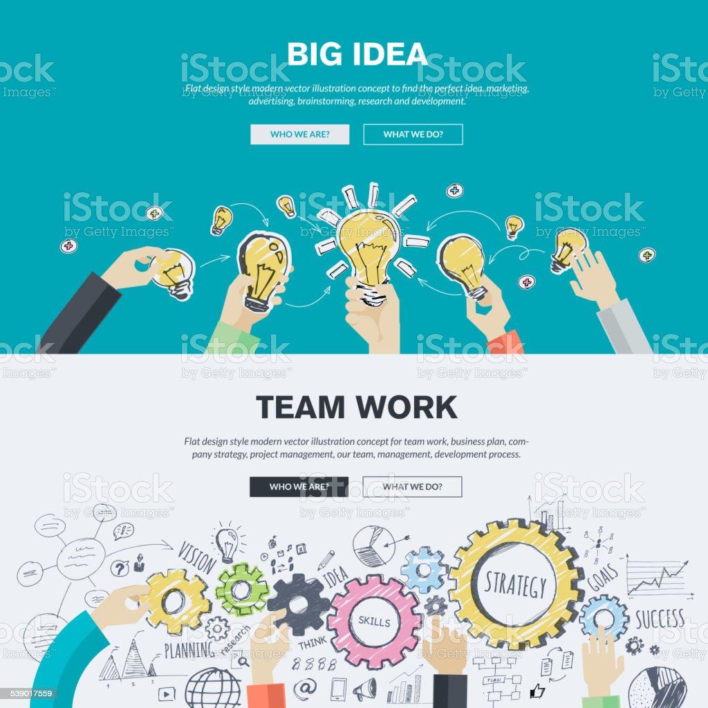 Flat design illustration concepts for business and marketing vector art illustration
