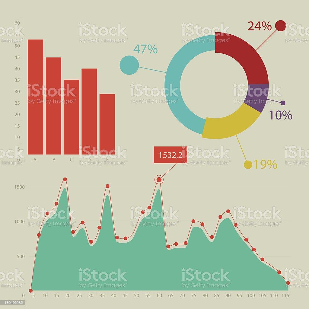 Flat design infographic royalty-free stock vector art