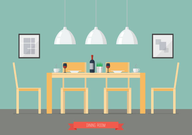 Cool Best Dining Table Illustrations Royalty Free Vector Download Free Architecture Designs Scobabritishbridgeorg