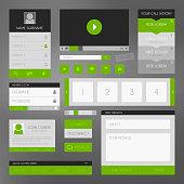 Flat design user interface kit