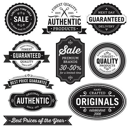 Flat Design Labels