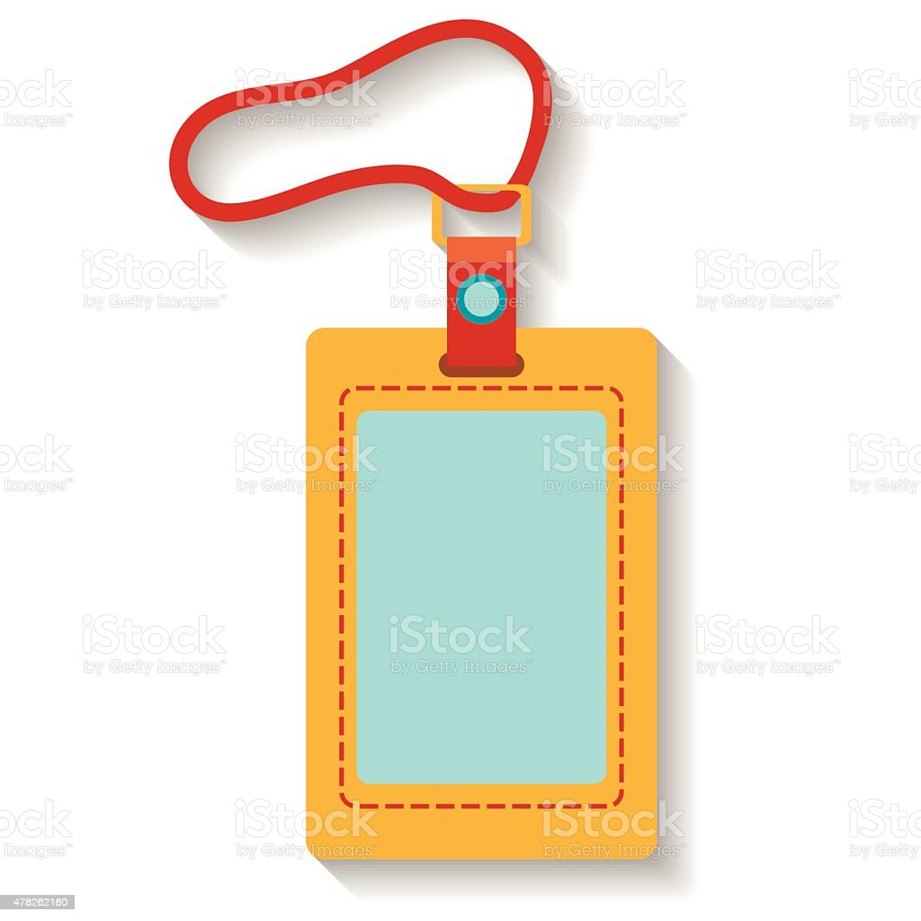 Flat design luggage tag isolated on white background. Vector illustration vector art illustration