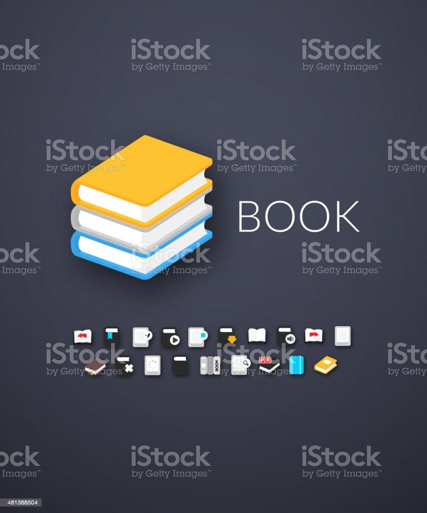 Flat design modern of brand identity style vector art illustration