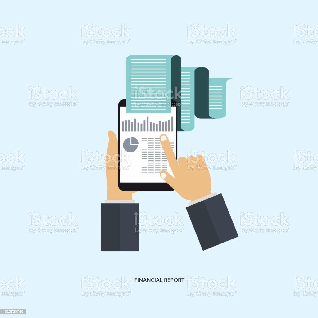 Design Plat Modern Vector Illustration Concept Danalyse De