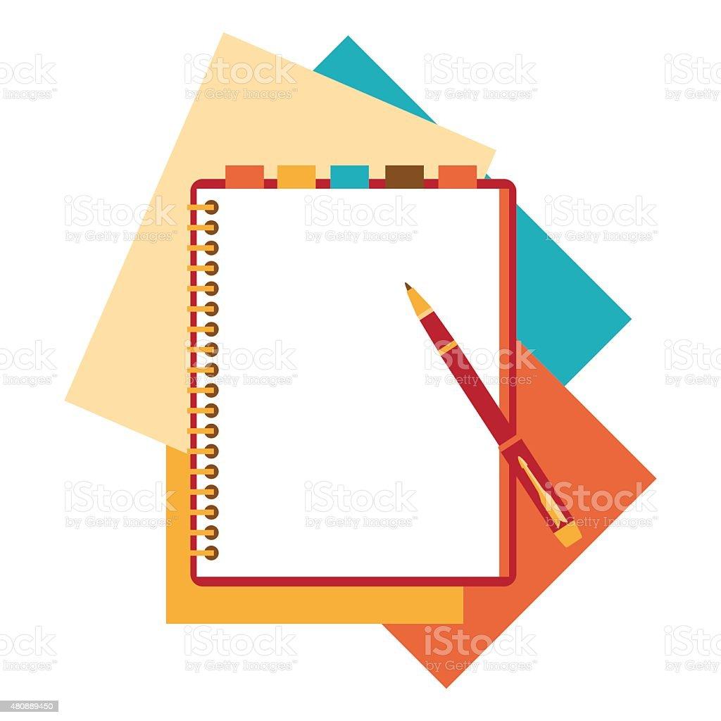 Ilustración de Plano De Diseño De Bloc De Notas Papel Hoja y más ...