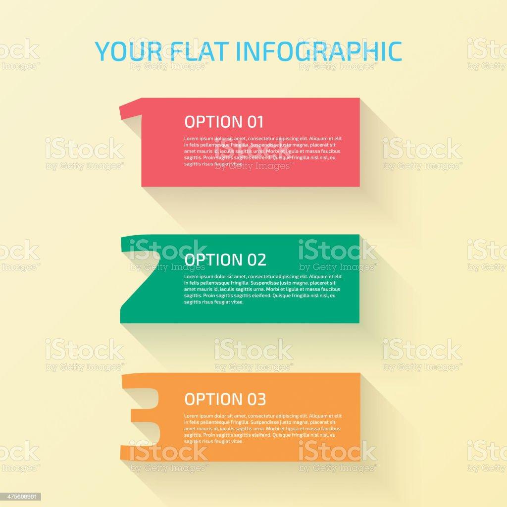 Flat Design Number royalty-free stock vector art