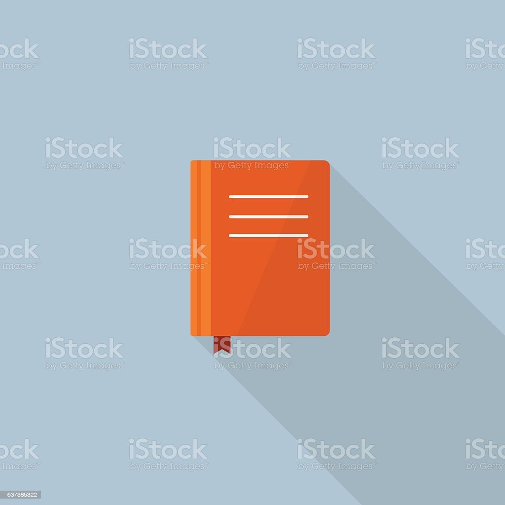 Flat Design Of Book Vector vector art illustration