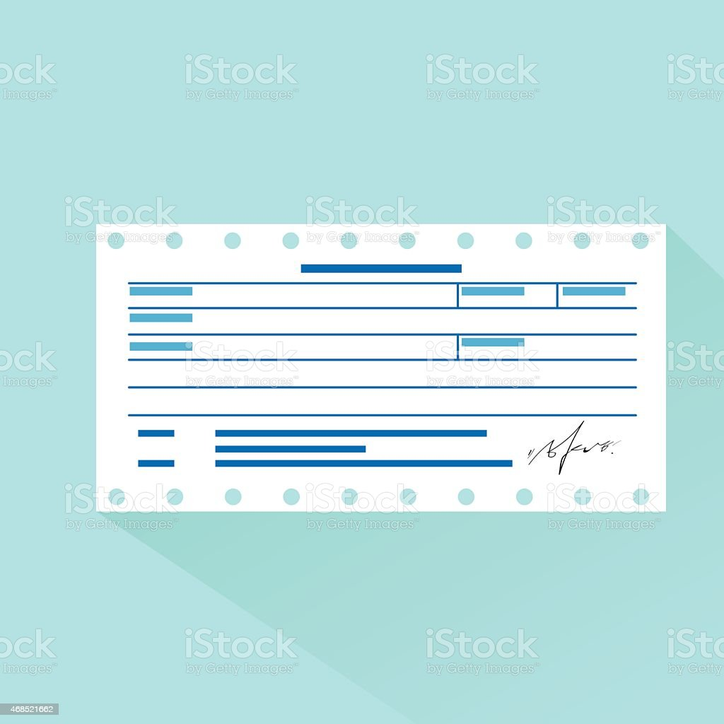 Flat Design Of Invoice And Bill Template Stock Vector Art More