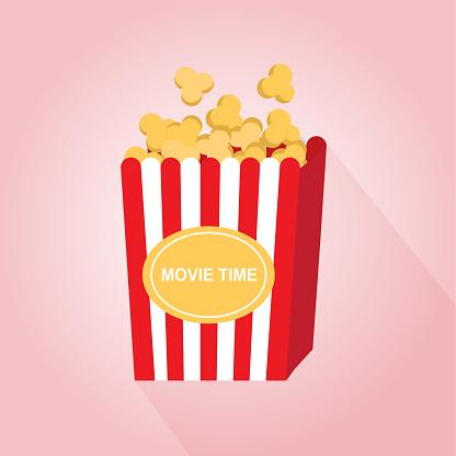 Flat design of Popcorn