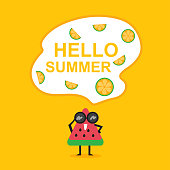 istock Flat design of Summer Time 1244890919