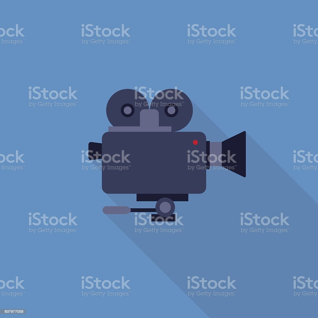 Flat Design of Video Camera vector art illustration