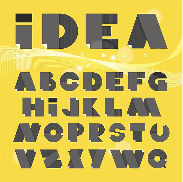 płaska konstrukcja ilustracja papieru alfabet - składany stan stock illustrations