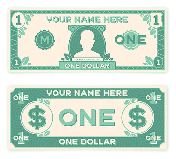 flat design paper money - dollar bill stock illustrations