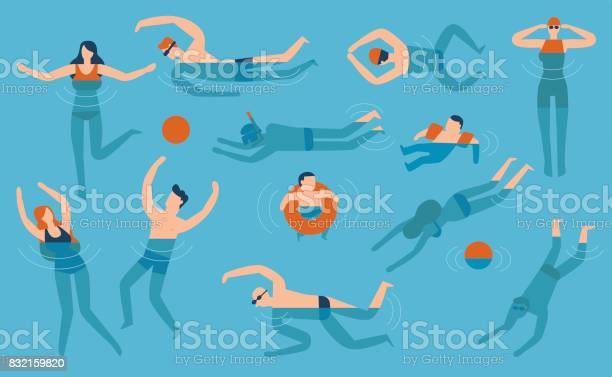 Flat design people are swimming in the swimming pool vector id832159820?b=1&k=6&m=832159820&s=612x612&h=ba3dsqa0ezgjzx snhhv1qki9alaoqh84u3lwrotbbk=