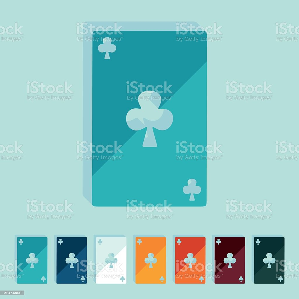 Flat Design Playing Card Stock Vector Art More Images Of Ace Of Clubs Istock