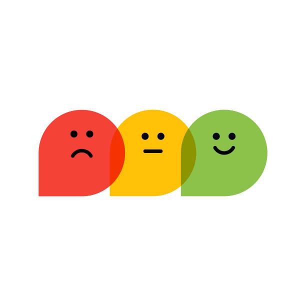 stockillustraties, clipart, cartoons en iconen met platte ontwerp promotor score iconen - positieve emotie