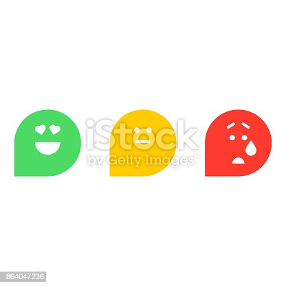 Vector illustration of a set of net promoter score icons