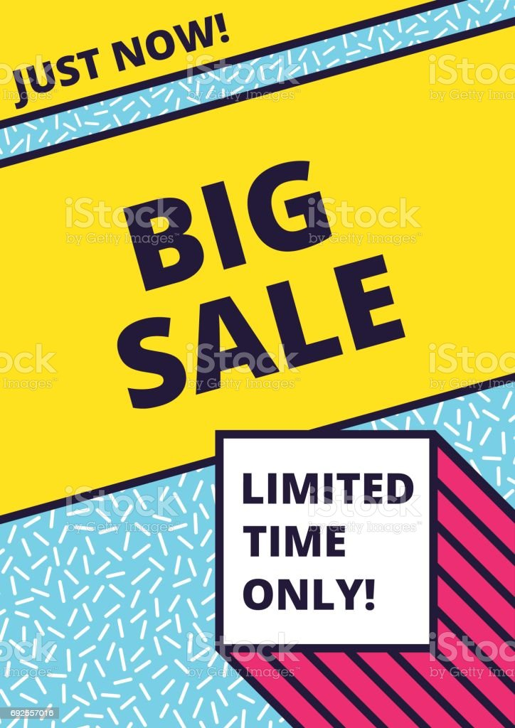 Flat design sale website banner template vector art illustration