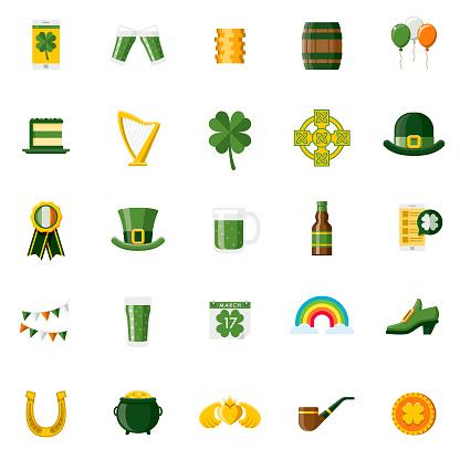 Flat Design St. Patrick's Day Icon Set