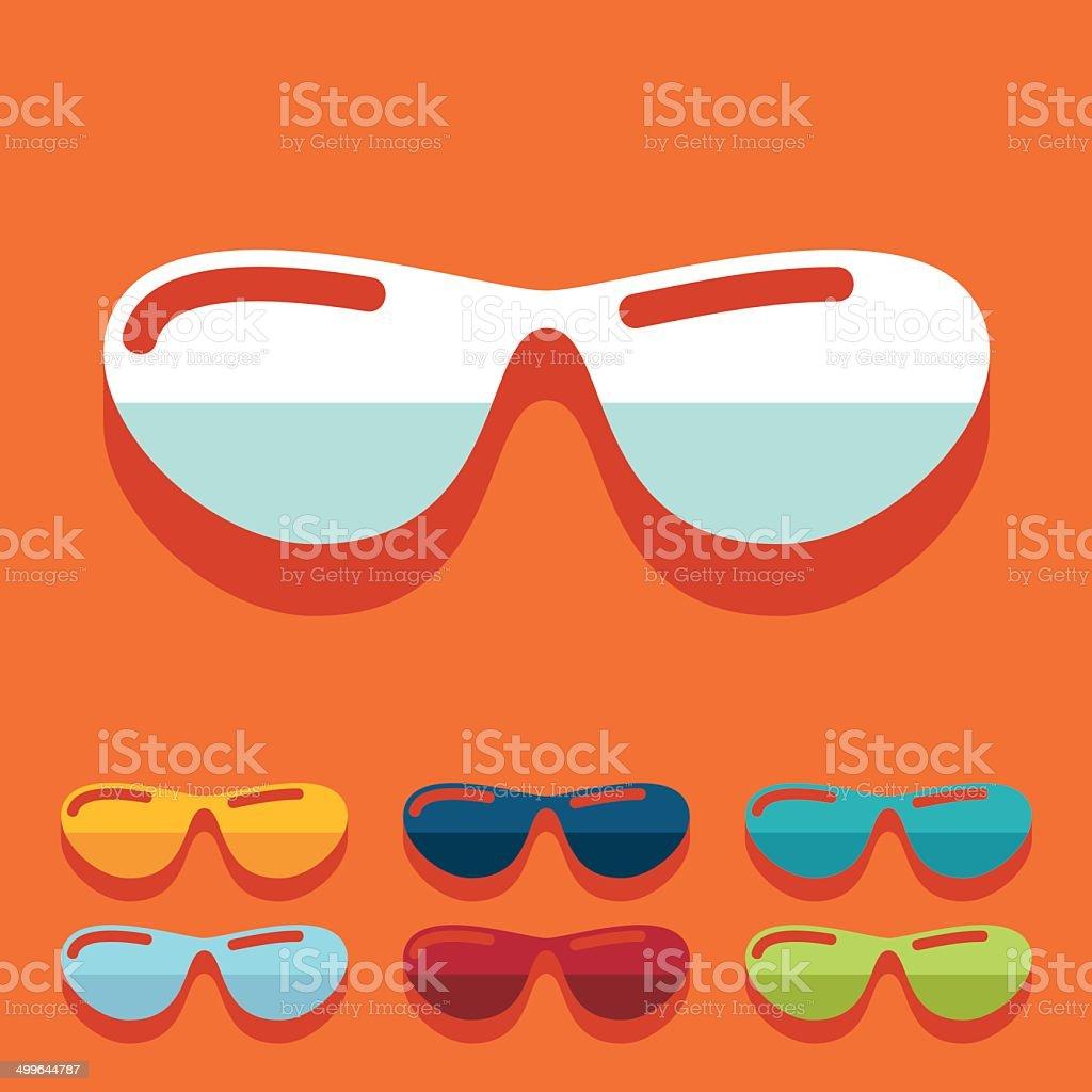 Imágenes Plano Gafas Sol Más Ilustración De Diseño Y Banco BxorCQdeWE
