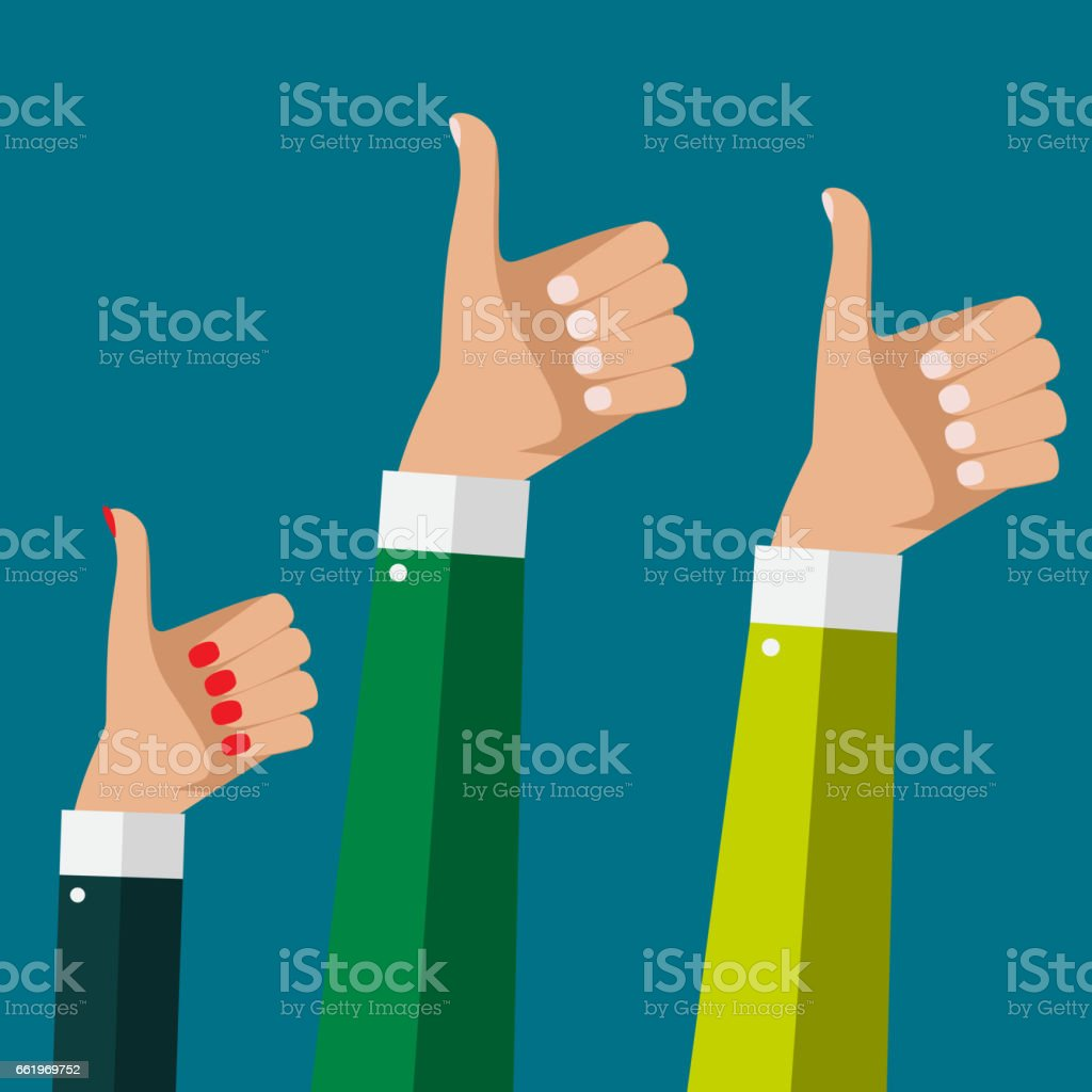 Flat Design Thumbs Up Background . Vector Illustration royalty-free flat design thumbs up background vector illustration stock vector art & more images of adult