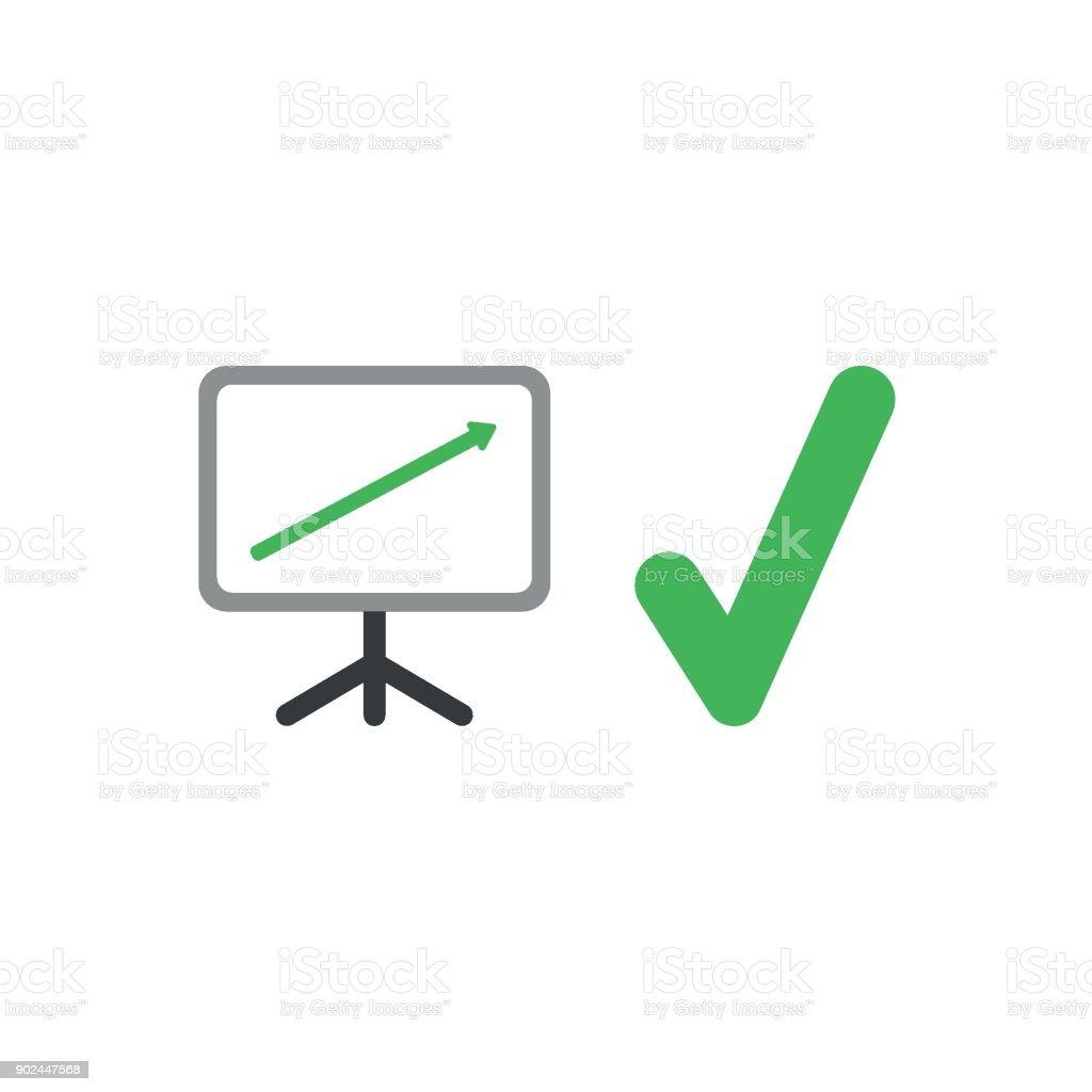 Flache Design Vektorkonzept Der Verkaufspräsentation Diagramm Pfeil ...