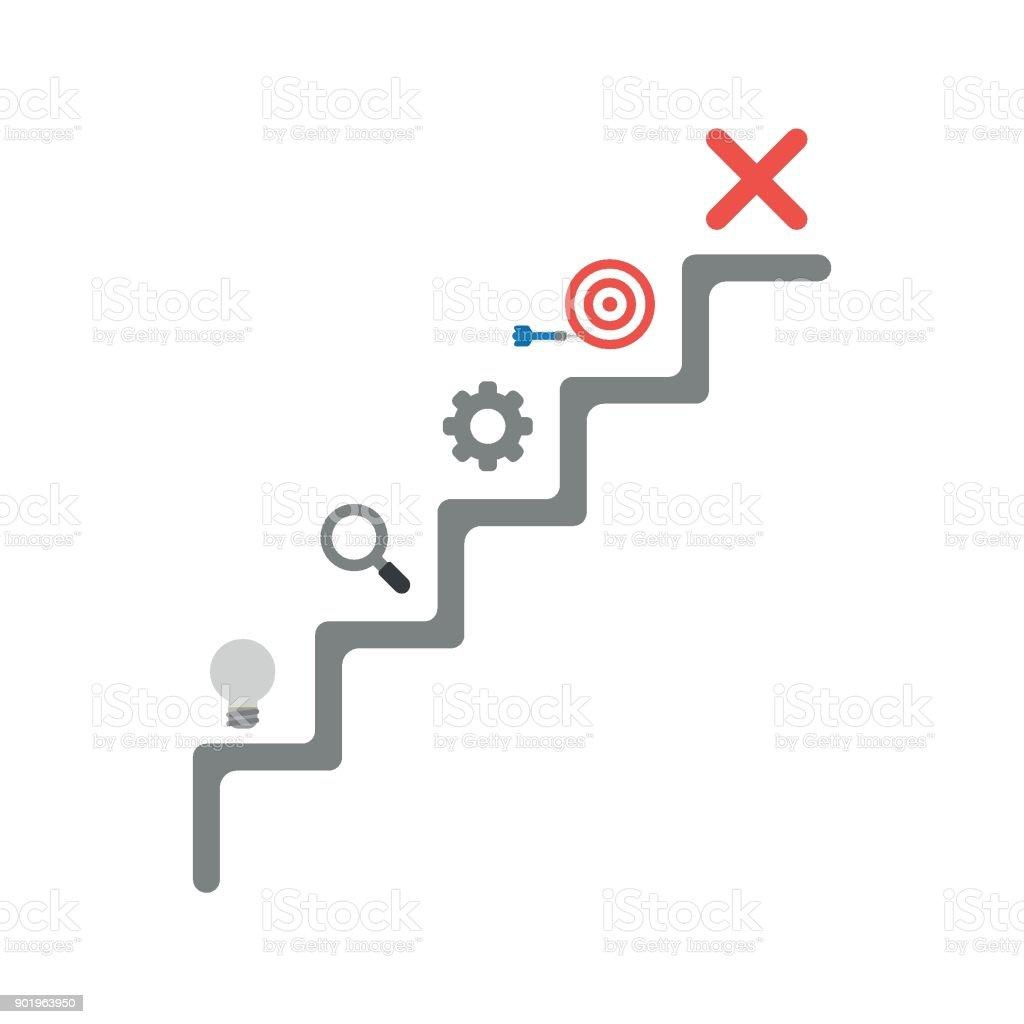 Ilustración de Concepto De Vector De Diseño Plano De Escaleras Con ...