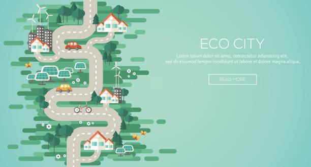 ilustrações de stock, clip art, desenhos animados e ícones de ilustração de vector design plana conceito de ecologia. - future hug