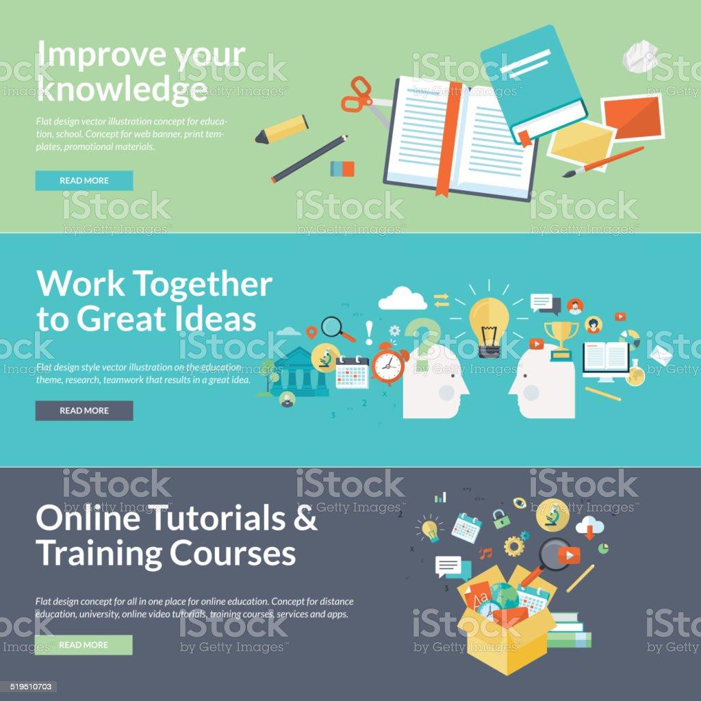Flat design vector illustration concepts for education vector art illustration