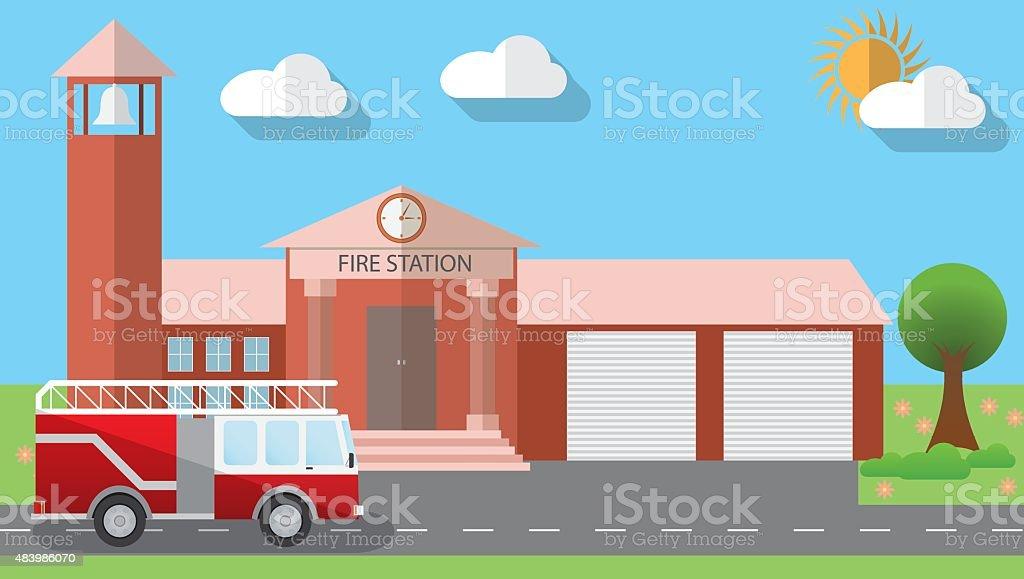 Caserne de pompiers - Telecharger Vectoriel Gratuit, Clipart Graphique,  Vecteur Dessins et Pictogramme Gratuit