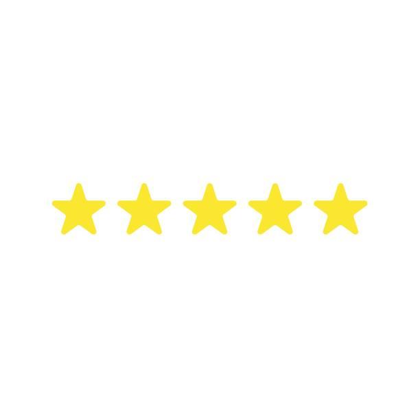 Flaches Design Vektor von fünf Sternen – Vektorgrafik