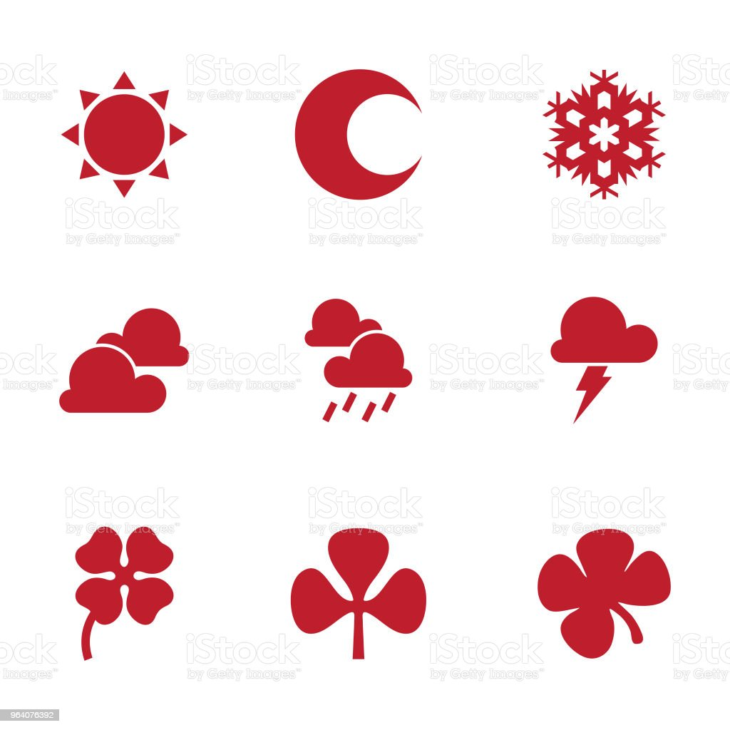 Flat design vector weather icons design elements. - Royalty-free Art stock vector