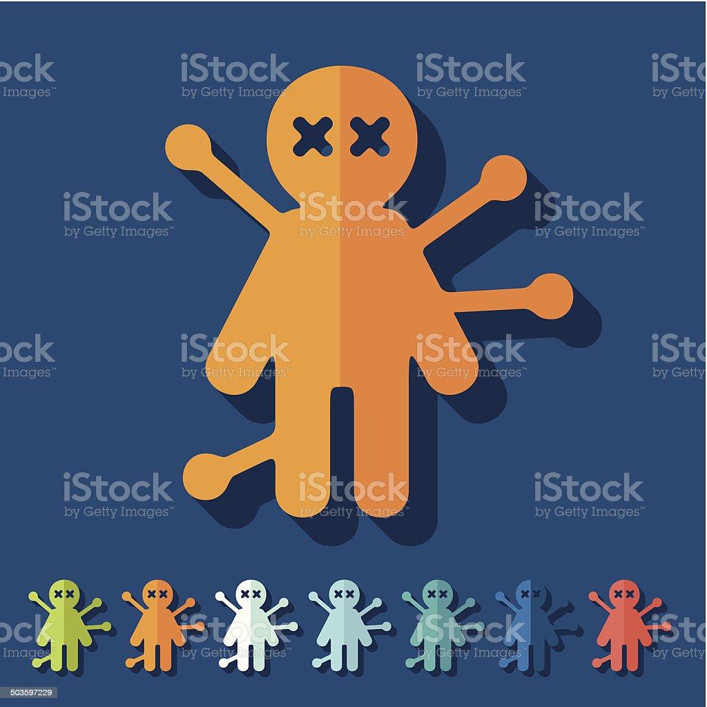 Flat Design Voodoo Doll Stock Vector Art & More Images of