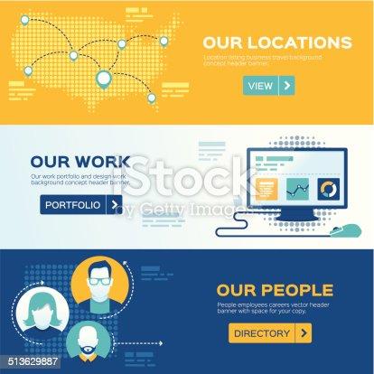 istock Flat Design Web Headers 513629887