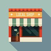 Flat design web icon on small business