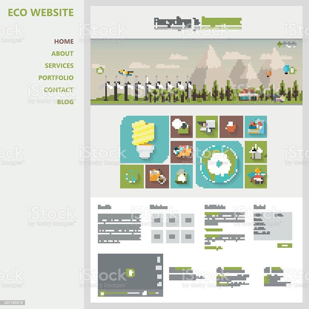 Ilustración de Diseño Plano Plantilla De Sitio Web De Vector De De ...