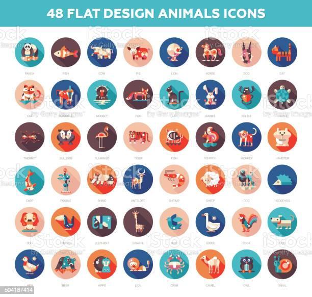 Flat design wild and domestic animals icons set vector id504187414?b=1&k=6&m=504187414&s=612x612&h=n9z8vyxpjbpomim4jsyr9naufimcj6zi1pv57wjkqju=